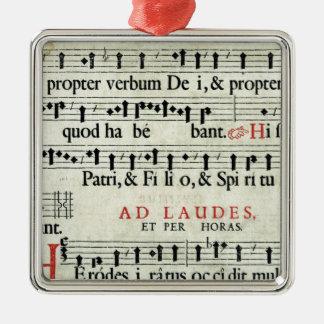 Music Manuscript Christmas Ornament