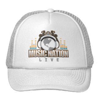 Music Nation Live Orange Trucker Hat