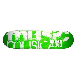 Music; Neon Green Stripes 19.7 Cm Skateboard Deck