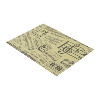 music note Pattern Music Theme Doormat