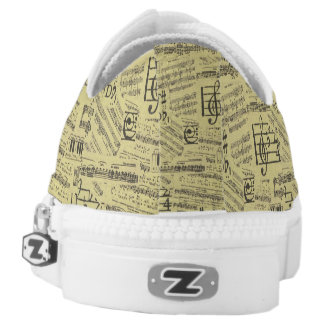 Music Note & Symbol Shoes Printed Shoes