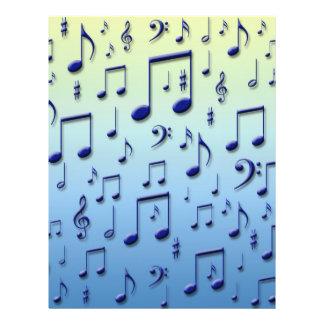 Music notes 21.5 cm x 28 cm flyer
