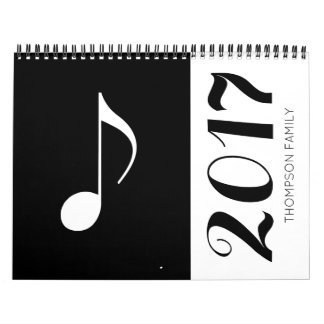 music notes graphic & cool calendars