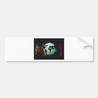 Music Notes Keyboard Destiny Bumper Sticker