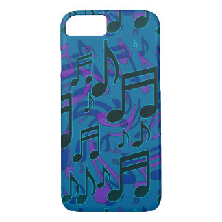 Music Notes Musical Pattern Blue Green Purple iPhone 7 Case