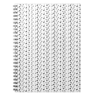 Music Notes Pattern Notebooks