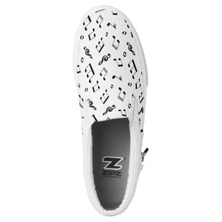 Music Notes Pattern Printed Shoes