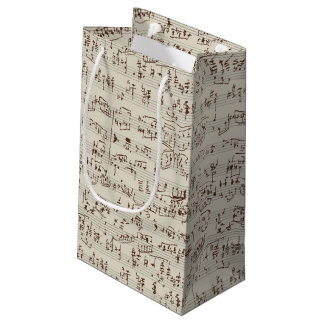 Music notes small gift bag