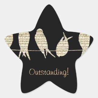 Music Notes Teacher Office Animal Bird Destiny Star Sticker