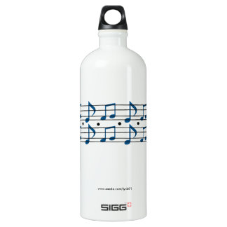 Music Notes Water Bottle