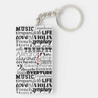 Music Orchestra Key Ring