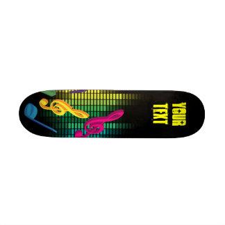Music Party Background 20.6 Cm Skateboard Deck