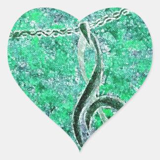 Music & Peace Heart Sticker
