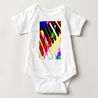 music, piano decor (21) baby bodysuit