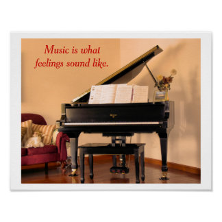 Music quote - poster poster
