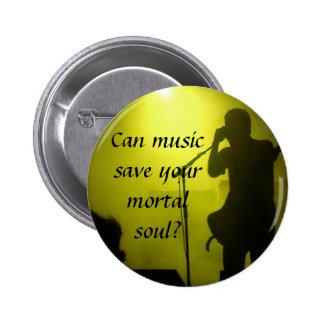 Music saves 6 cm round badge