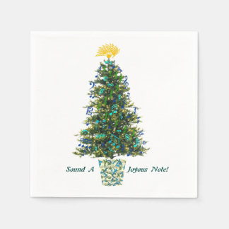 Music Signs Decorating Christmas Tree Custom Text Paper Serviettes
