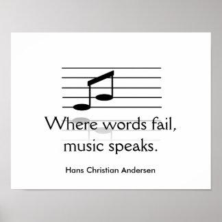 Music speaks - art print poster