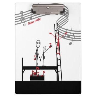 Music Teacher Funny Stickman Clipboard