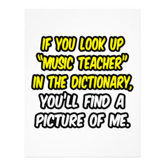 Music Teacher In Dictionary My Picture Flyers