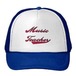 Music Teacher Red Tshirts and Gifts Trucker Hat
