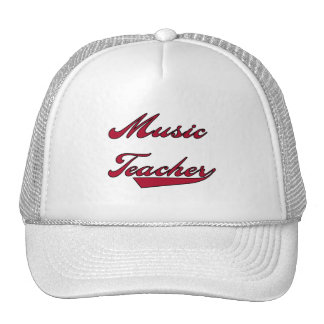 Music Teacher Red Tshirts and Gifts Mesh Hats