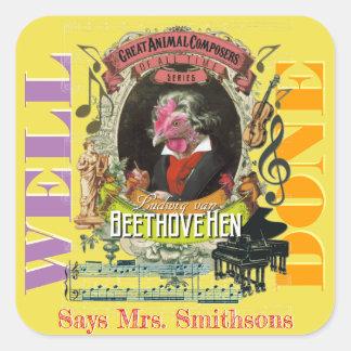 Music Teacher Reward Stickers Beethovehen