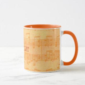 Music Teacher's Note os Staff Personalized Mug