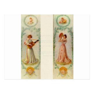 Music (two paintings) by Pierre-Auguste Renoir Postcard