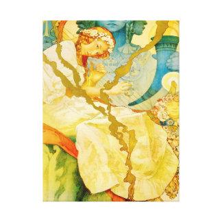Musical Art Nouveau Vintage Canvas Print