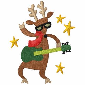 Musical Christmas - Reindeer Embroidered Hoodie
