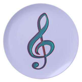 musical g-clef note plate