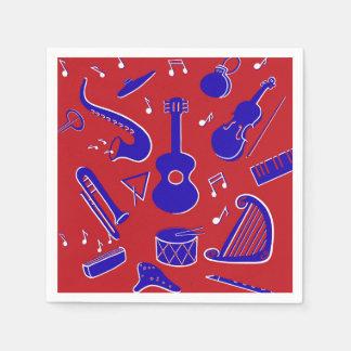 Musical Instruments Paper Serviettes