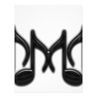 "Musical Letter ""M"" 21.5 Cm X 28 Cm Flyer"