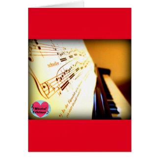 Musical Lifetimes Piano Keys Greetings Card