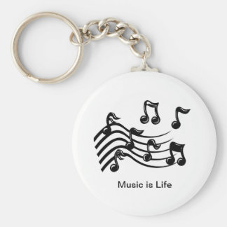 Musical Notes Button Key chain