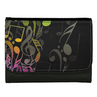 Musical Notes Leather Wallet