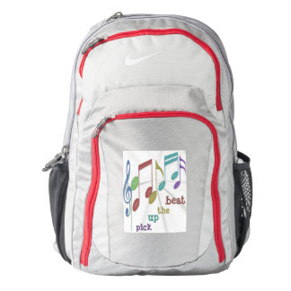 Musical Notes Linear Multicolor PICK UP THE BEAT Backpack