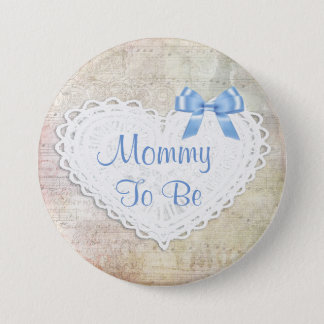 Musical Notes Lullaby Mommy to be Baby Shower 7.5 Cm Round Badge