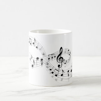 Musical Notes On A Staff Line Mug