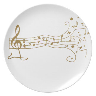 MUSICAL NOTES ON FUN  PENTAGRAM - HAPPY MUSIC GIFT PLATE