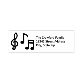 Musical Notes - Self-Inking Address Stamp