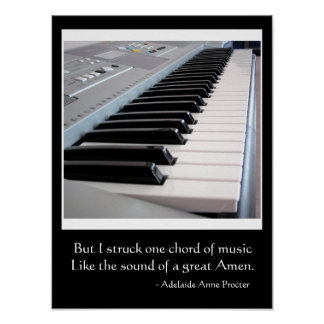 Musical Quote About a Great Chord Poster