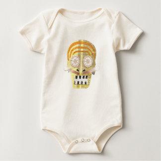 Musical Skull No Background Organic Babygro Baby Bodysuit