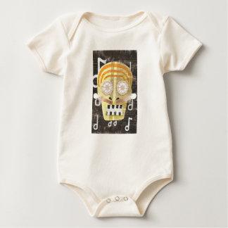 Musical Skull Organic Babygro Baby Bodysuit