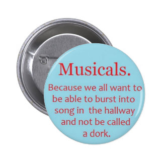 Musicals 6 Cm Round Badge