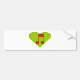 Musicial Note Bumper Sticker