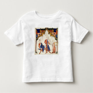 Musicians Playing a Viola and a Tambourine Toddler T-Shirt
