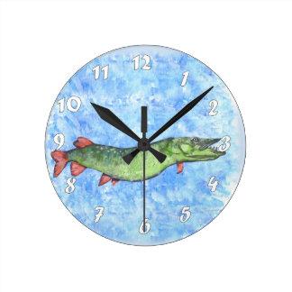 Muskie Round Clock