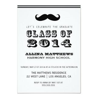 Mustache Class of 2014 Graduation Invitation